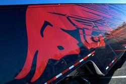 Red Bull Racing team hauler detail