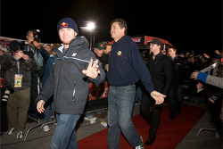 Drivers enter the stage: Brian Vickers, Red Bull Racing Team Toyota, Michael Waltrip, Michael Waltrip Racing Toyota