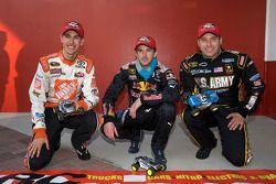 Raybestos Rookie of the Year radio-controlled car race event: Joey Logano, Joe Gibbs Racing Toyota, Scott Speed, Red Bull Racing Team Toyota and Ryan Newman, Stewart-Haas Racing Chevrolet