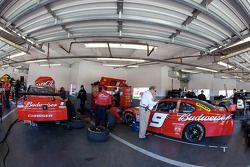 Richard Petty Motorsports Dodge garage area