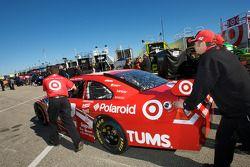Earnhardt Ganassi Racing Chevrolet of Juan Pablo Montoya pushed to tech inspection