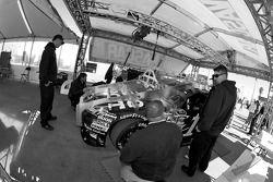 Stewart-Haas Racing Chevrolet of Tony Stewart at tech inspection
