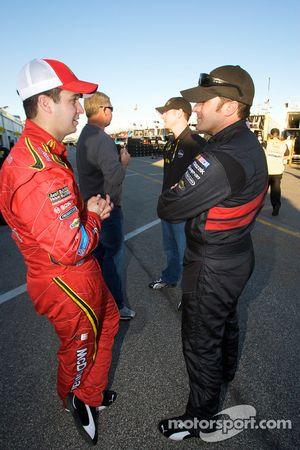Reed Sorenson, Richard Petty Motorsports Dodge and David Stremme, Penske Racing Dodge