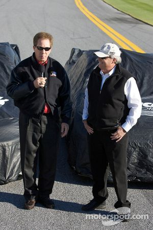 Hendrick Motorsports' 25th anniversary season car unveiling event: Darrell Waltrip and Rick Hendrick