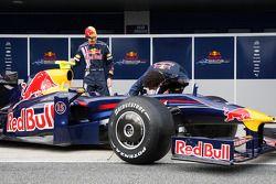 Sebastian Vettel and Mark Webber unveil the new Red Bull RB5