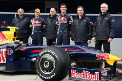 Rob Marshall; Sebastian Vettel, Red Bull Racing; Adrian Newey, Red Bull Racing; Mark Webber, Red Bul