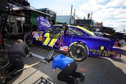 TRG Motorsports Chevrolet crew members at work