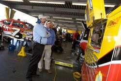 Richard Childress watches the end of the practice session