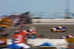 Tony Stewart, Stewart-Haas Racing Chevrolet, Martin Truex Jr., Earnhardt Ganassi Racing Chevrolet, Michael Waltrip, Michael Waltrip Racing Toyota, Jamie McMurray, Roush Fenway Racing Ford