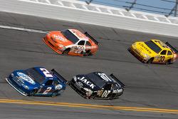 Kurt Busch, Penske Racing Dodge, Casey Mears, Richard Childress Racing Chevrolet, Joey Logano, Joe Gibbs Racing Toyota, Clint Bowyer, Richard Childress Racing Chevrolet