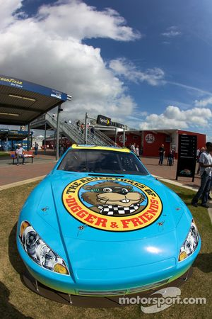 The Digger car in the Fan Zone