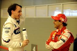 Robert Kubica, BMW Sauber F1 Team ve Felipe Massa, Scuderia Ferrari