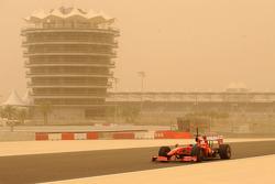 Felipe Massa, Scuderia Ferrari, track during a sandstorm