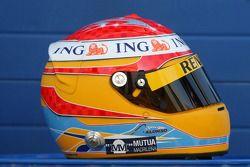 Helmet, Fernando Alonso, Renault F1 Team