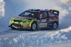 Mikko Hirvonen et Jarmo Lehtinen, Ford Focus RS WRC08, BP Ford Abu Dhabi World Rally Team