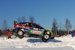 Jari-Matti Latvala et Miikka Anttila, Ford Focus RS WRC08, BP Ford Abu Dhabi World Rally Team
