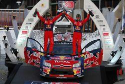 Podium: les vainqueurs Sébastien Loeb et Daniel Elena, Citroen C4, Citroen Total World Rally Team