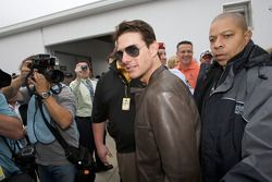 Actor Tom Cruise arrives at the drivers meeting