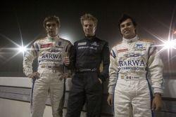 Nico Hulkenberg, Sergio Perez et Vitaly Petrov