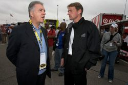Piero Ferrari, Ferrari vice-president, and Doug Yates, Yates Racing owner