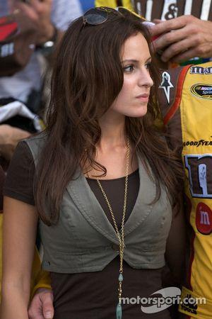 Victory lane: Samantha Sarcinella, girlfriend of Kyle Busch