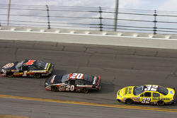 Mike Bliss, Joey Logano and Brian Vickers