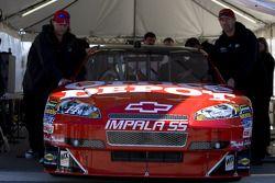 Tony Stewart's Office Depot car at tech inspection