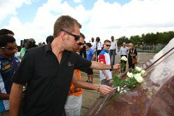 Chris Van Der Drift, driver of A1 Team New Zealand with the Hector Peterson Memorial