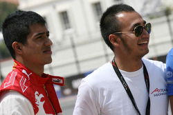 Zahir Ali, driver of A1 Team Indonesia and Satrio Hermanto, driver of A1 Team Indonesia