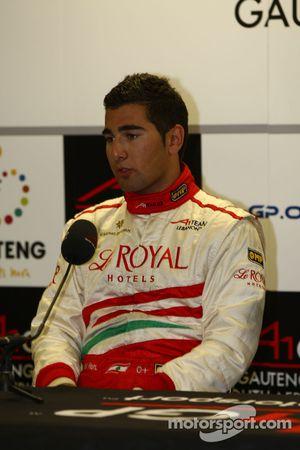 Daniel Morad, driver of A1 Team Lebanon press conference