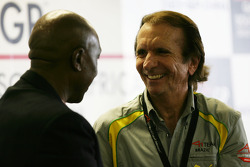 Tokyo Sexwale, Seat Holder A1 Team South Africa and Emerson Fittipaldi, Seat Holder of A1 Team Brazil