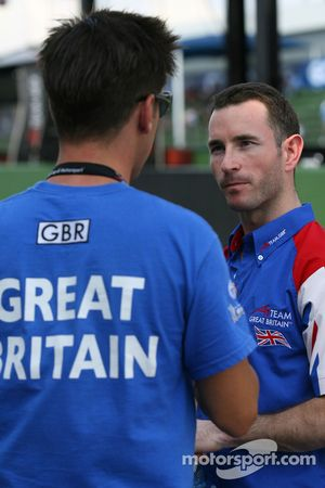 James Winslow, driver of A1 Team Great Britain and Danny Watts, driver of A1 Team Great Britain