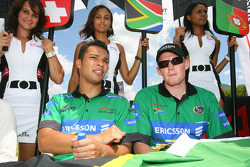 Adrian Zaugg, driver of A1 Team South Africa and Cristiano Morgado, driver of A1 Team South Africa