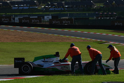 Juan Pablo Garcia, driver of A1 Team Mexico stopped on the circuit