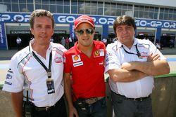 Pete da Silva, Felipe Massa et Tony Teixeira, président de l'A1 GP