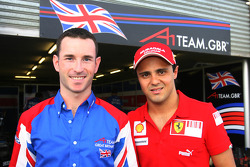 Danny Watts, driver of A1 Team Great Britain with Felipe Massa