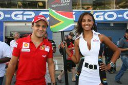 Felipe Massa with a grid girl