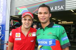 Felipe Massa with Adrian Zaugg, driver of A1 Team South Africa