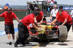 Ho-Pin Tung, driver of A1 Team China crashed car