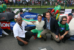 Tokyo Sexwale, Seat Holder A1 Team South Africa and Adrian Zaugg, driver of A1 Team South Africa