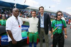 Tokyo Sexwale, Seat Holder A1 Team South Africa with Adrian Zaugg, driver of A1 Team South Africa