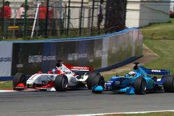 Clivio Piccione, driver of A1 Team Monaco and Narain Karthikeyan, driver of A1 Team India