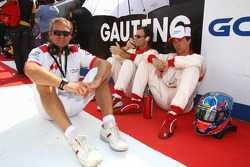 Hubertus Bahlsen, Driver of A1 Team Monaco with Clivio Piccione Driver of A1 Team Monaco