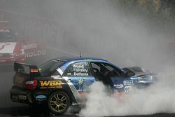 Un accident important impliquant la WBR Subaru Impreza WRX Sti de Chris Delfsma, David Wood et Gary Tierney