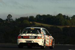 #96 Superbarn Supermarkets Pty Ltd, Mitsubishi Lancer Evo IX: James Koundouris, Theo Koundouris, Steve Owen