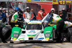 Pit stop de Butch Leitzinger, Marino Franchitti et Ben Devlin (Lola B09 86 Mazda N°20)