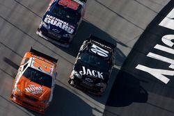 Joey Logano, Casey Mears and Dale Earnhardt Jr.