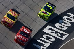 Kasey Kahne leads Marcos Ambrose and Mark Martin