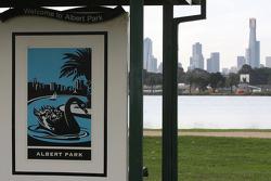 Albert Park sign