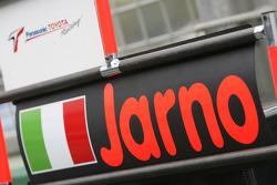 Le panneau des stands de Jarno Trulli (Toyota Racing)